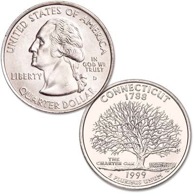Image for 1999-D Connecticut Statehood Quarter from Littleton Coin Company