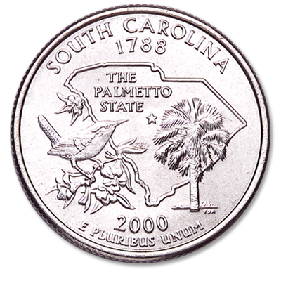 Image for 2000-P South Carolina Statehood Quarter from Littleton Coin Company