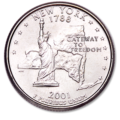 Image for 2001-P New York Statehood Quarter from Littleton Coin Company