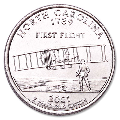 Image for 2001-P North Carolina Statehood Quarter from Littleton Coin Company