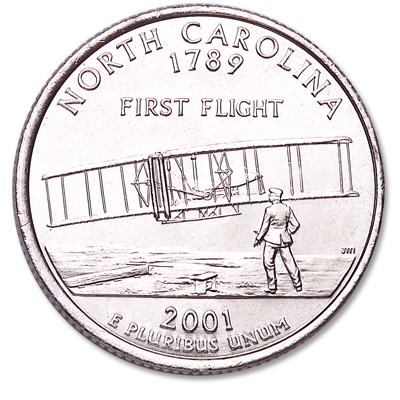 Image for 2001-D North Carolina Statehood Quarter from Littleton Coin Company
