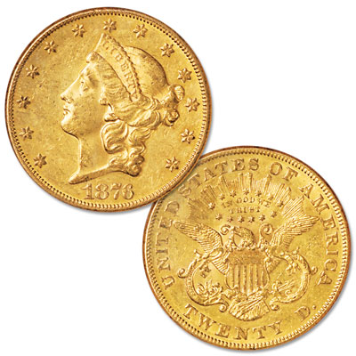 Image for 1876 Liberty Head $20 Gold Eagle from Littleton Coin Company