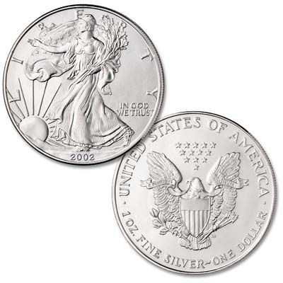 Image for 2002 $1 Silver American Eagle from Littleton Coin Company