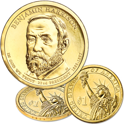 Image for 2012-P Benjamin Harrison Presidential Dollar from Littleton Coin Company