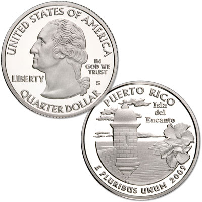 Image for 2009-S 90% Silver Puerto Rico Territories Quarter from Littleton Coin Company
