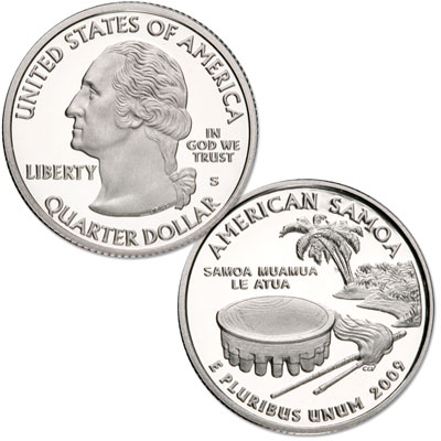 Image for 2009-S 90% Silver American Samoa Territories Quarter from Littleton Coin Company