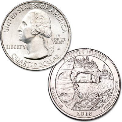 Image for 2018-D Apostle Islands National Lakeshore Quarter from Littleton Coin Company