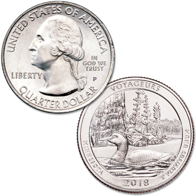 Image for 2018-P Voyageurs National Park Quarter from Littleton Coin Company