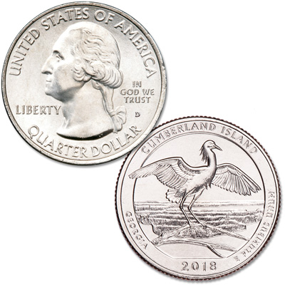 Image for 2018-D Cumberland Island National Seashore Quarter from Littleton Coin Company