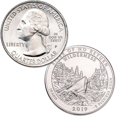 Image for 2019-P Frank Church River of No Return Wilderness Quarter from Littleton Coin Company