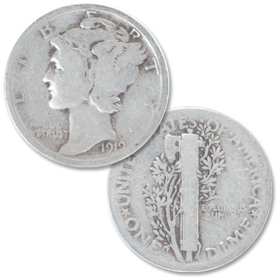 Image for 1919 Mercury Dime from Littleton Coin Company