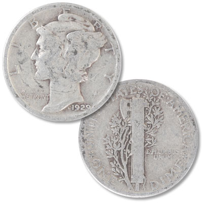 Image for 1929 Mercury Dime from Littleton Coin Company