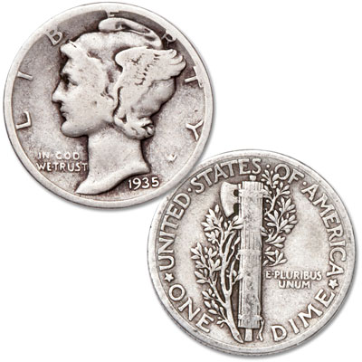 Image for 1935 Mercury Dime from Littleton Coin Company