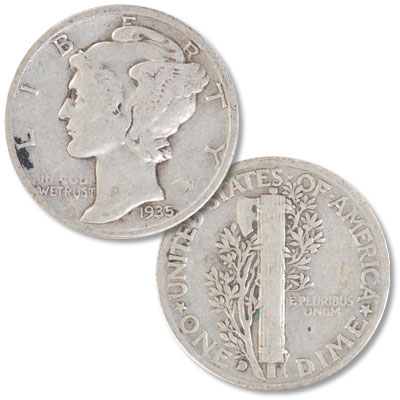 Image for 1935-D Mercury Dime from Littleton Coin Company