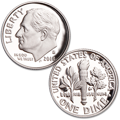 Image for 2018-S 90% Silver Roosevelt Dime from Littleton Coin Company