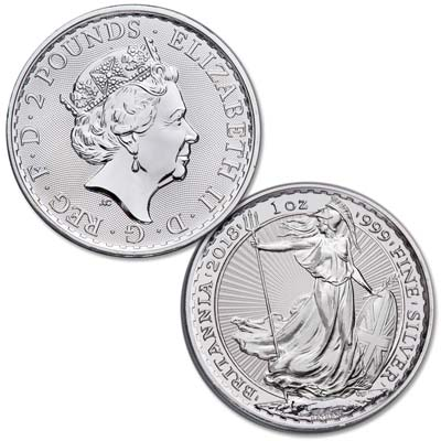 Image for 2018 Great Britain 1 oz. Silver £2 Britannia from Littleton Coin Company