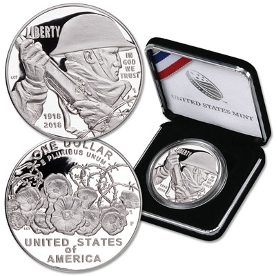Image for 2018-P World War I Commemorative Silver Dollar from Littleton Coin Company