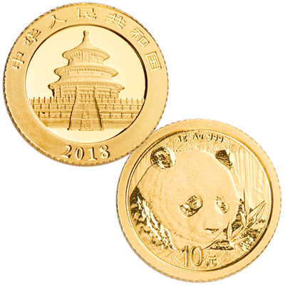 Image for 2018 China 1 gram Gold Panda from Littleton Coin Company