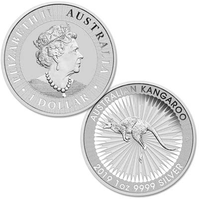 Image for 2019 Australia 1 oz. Silver $1 Kangaroo from Littleton Coin Company