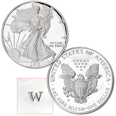 Image for 2019-W Silver American Eagle from Littleton Coin Company