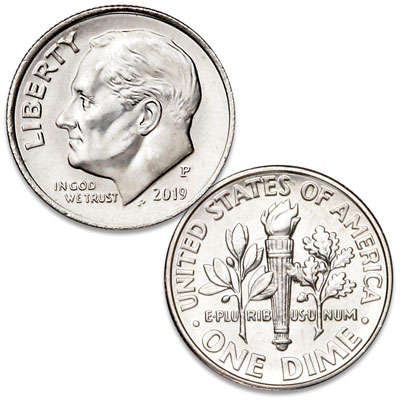 Image for 2019-P Roosevelt Dime from Littleton Coin Company
