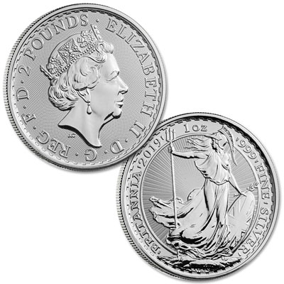 Image for 2019 Great Britain 1 oz. Silver £2 Britannia from Littleton Coin Company