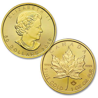 Image for 2019 Canada Gold 1 oz. $50 Maple Leaf from Littleton Coin Company