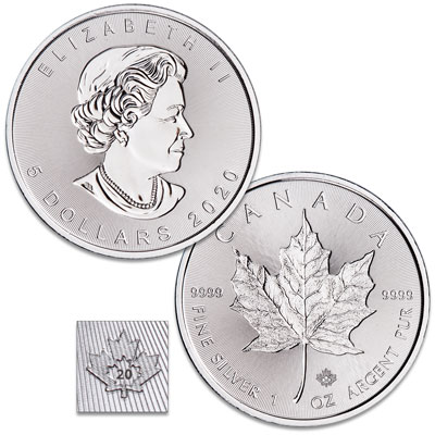 Image for 2020 Canada Silver $5 Maple Leaf from Littleton Coin Company