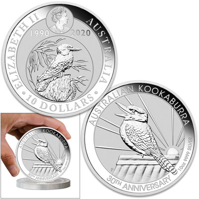 Image for 2020 Australia 10 oz. Silver Kookaburra from Littleton Coin Company