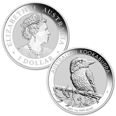 Image for 2021 Australia 1 oz. Silver $1 Kookaburra from Littleton Coin Company