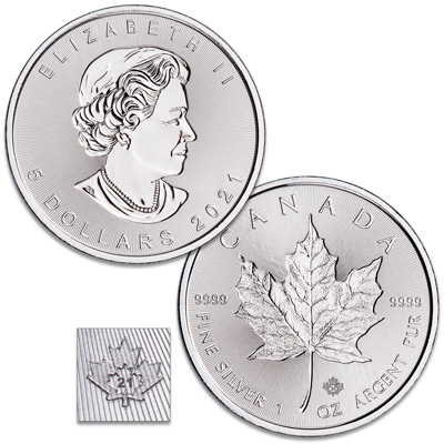 Image for 2021 Canada Silver $5 Maple Leaf from Littleton Coin Company