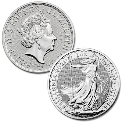 Image for 2021 Great Britain 1 oz. Silver £2 Britannia from Littleton Coin Company