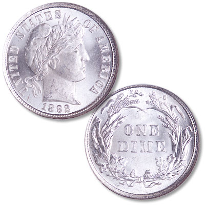 Image for 1892 Barber Silver Dime from Littleton Coin Company