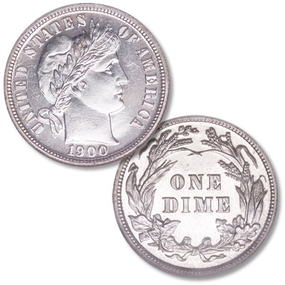 Image for 1900 Barber Silver Dime from Littleton Coin Company