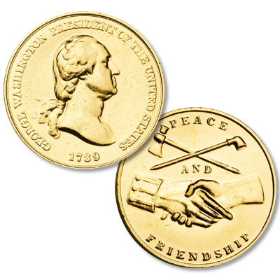 Image for Gold-Plated George Washington Medal from Littleton Coin Company