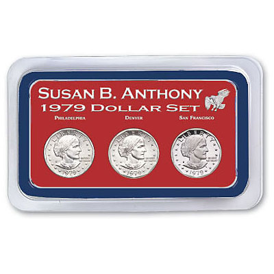 Image for 1979 PDS Susan B. Anthony Dollar Set in Exclusive Showpak from Littleton Coin Company