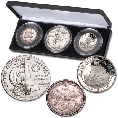 Image for 1892-1992 Columbus Commemorative Set with Case from Littleton Coin Company