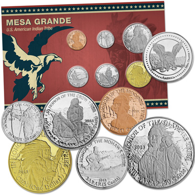 Image for 2013 Mesa Grande Sovereign Nation Coin Set from Littleton Coin Company