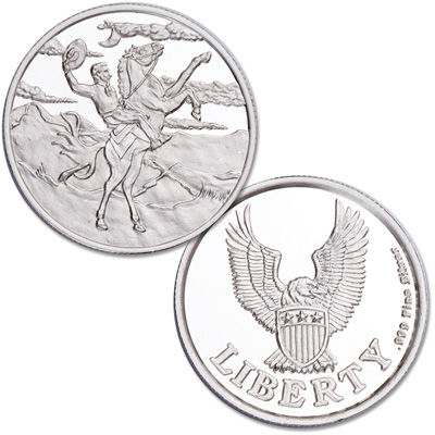 Image for Western Cowboy Silver Round from Littleton Coin Company