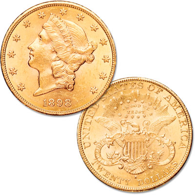 Image for 1877-1907 $20 Liberty Head Gold Double Eagle from Littleton Coin Company