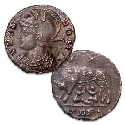 Image for A.D. 330-340 Constantine I Wolf & Twins Commemorative from Littleton Coin Company
