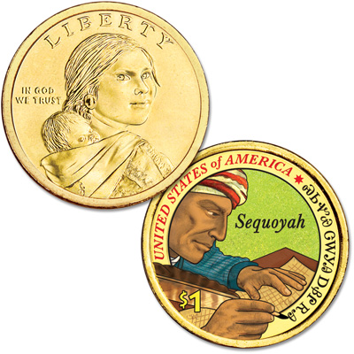 Image for 2017 Native American Dollar with Colorized Reverse from Littleton Coin Company