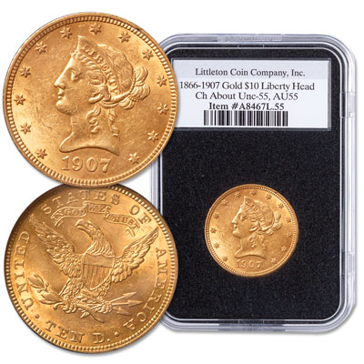 Image for 1866-1907 Liberty Head $10 Gold Eagle from Littleton Coin Company