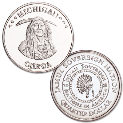 Image for 2018 Ojibwa Native American Quarter from Littleton Coin Company