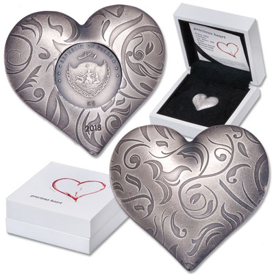Image for 2018 Palau Silver $5 Precious Heart from Littleton Coin Company