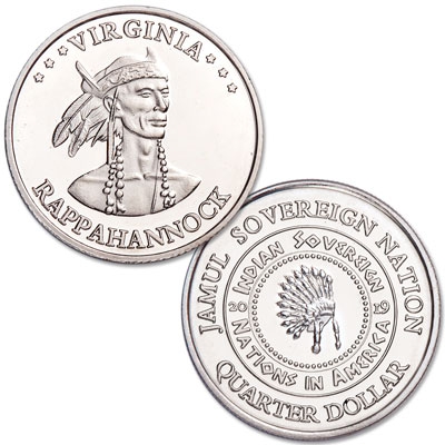 Image for 2019 Rappahannock Native American Quarter from Littleton Coin Company