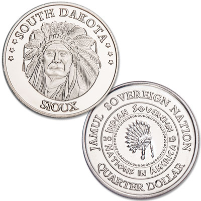 Image for 2019 Sioux Native American Quarter from Littleton Coin Company