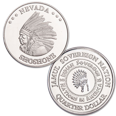 Image for 2019 Shoshone Native American Quarter from Littleton Coin Company