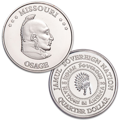Image for 2020 Osage Native American Quarter from Littleton Coin Company