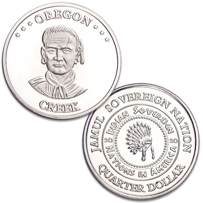 Image for 2020 Creek Native American Quarter from Littleton Coin Company